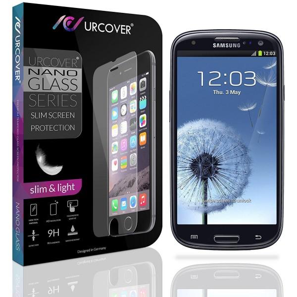 Samsung Galaxy S3 Echt Hart Glas Panzer Display Schutz Folie Ultra Slim Clear
