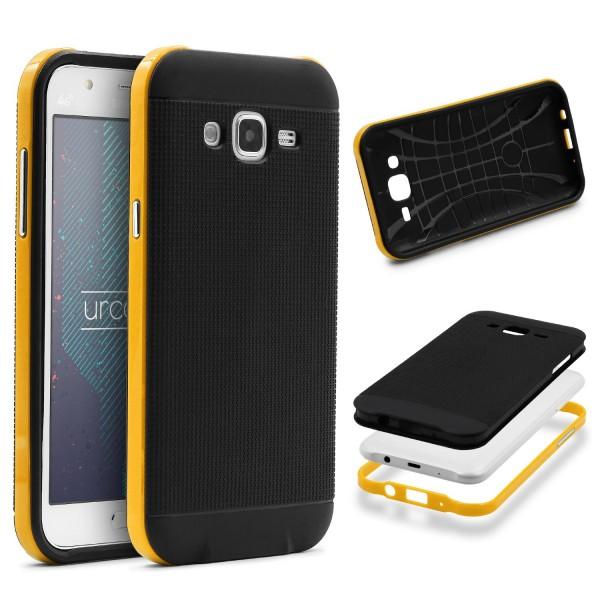 Samsung Galaxy J1 (2015) Schutz Hülle Carbon Style Karbon Optik TPU Case Cover