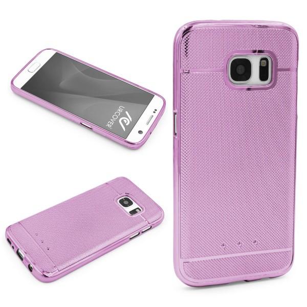 Urcover® Samsung Galaxy S7 Schutz Hülle Metall Optik Silikon Soft Back Case