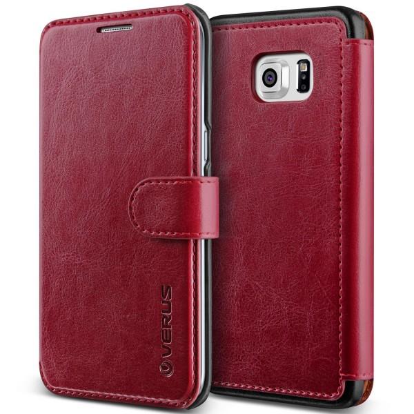 Samsung Galaxy S6 Edge Plus Premium Schutzhülle Magnet Verschluss Kartenfach