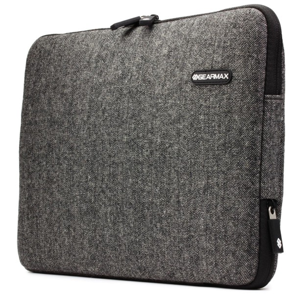 Urcover Universal 13,3 Zoll Stoff Laptop Tasche Case Cover Notebook Sleeve Grau