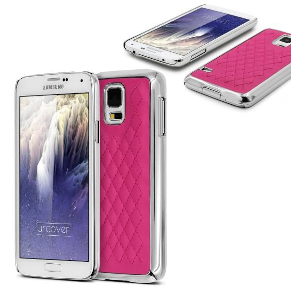 Urcover Samsung Galaxy S5 Schutz Hülle Slim Case Cover Steppmuster Schale Etui