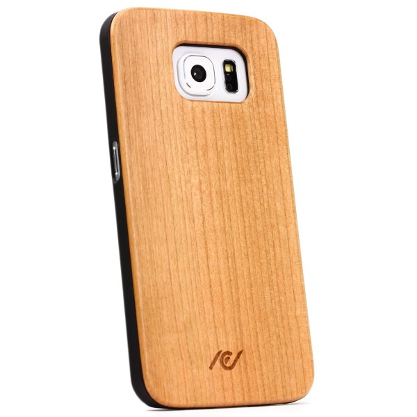 Samsung Galaxy S6 Echt Holz Backcase Schutz Hülle Cover Case Schale Wood Style