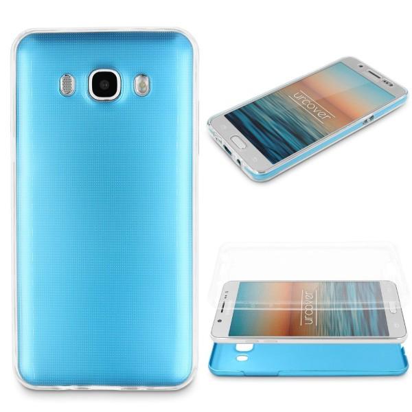 Samsung Galaxy J5 (2016) 360 GRAD RUNDUM SCHUTZ Metalloptik TPU Hülle Cover Case