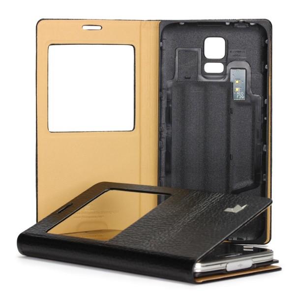 Urcover® Samsung Galaxy S5 Akkudeckel Wallet S-View Case Schutzhülle Cover Etui