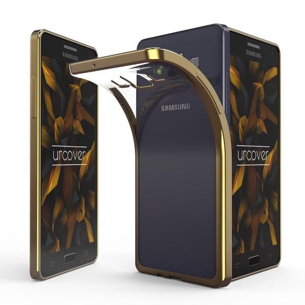 Samsung Galaxy A5 (2015) Hülle Spiegelrand klar Slim Cover Tasche Back Case Etui