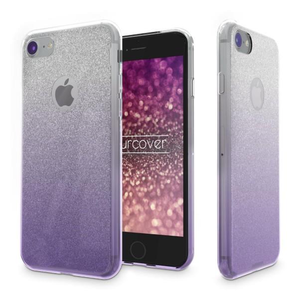 Urcover® Apple iPhone 7 Schutz Hülle Glitzer Soft Case Cover Tasche Tasche Etui