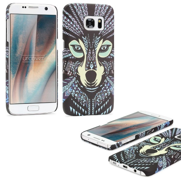 Urcover® Samsung Galaxy S7 Schutz Hülle Tier Muster Hard Back Case Cover Etui