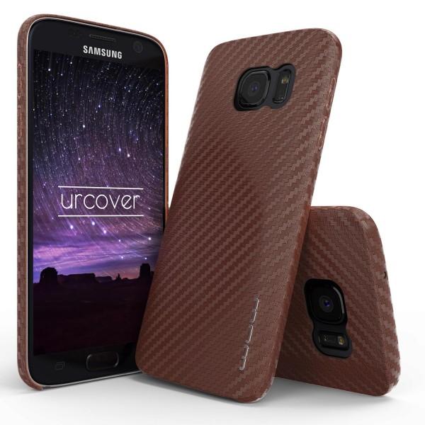 Samsung Galaxy S7 Handy Schutz Hülle Carbon Optik Backcase Cover Tasche Schale