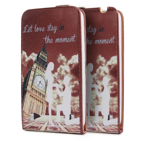 Urcover® Wiko Sunset Kunststoff Schutzhülle Case Cover Tasche Flip Wallet Etui