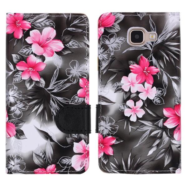 Urcover® Samsung Galaxy A3 (2016) Schutz Hülle Blumenmuster Kartenfächer Ständer