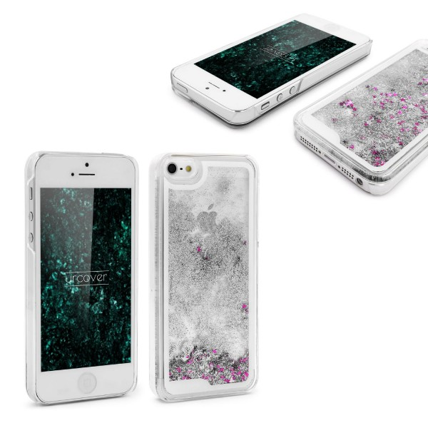 Apple iPhone 5 / 5s / SE TPU Glitter Liquid Case Cover Schutzhülle Trend Glitzer