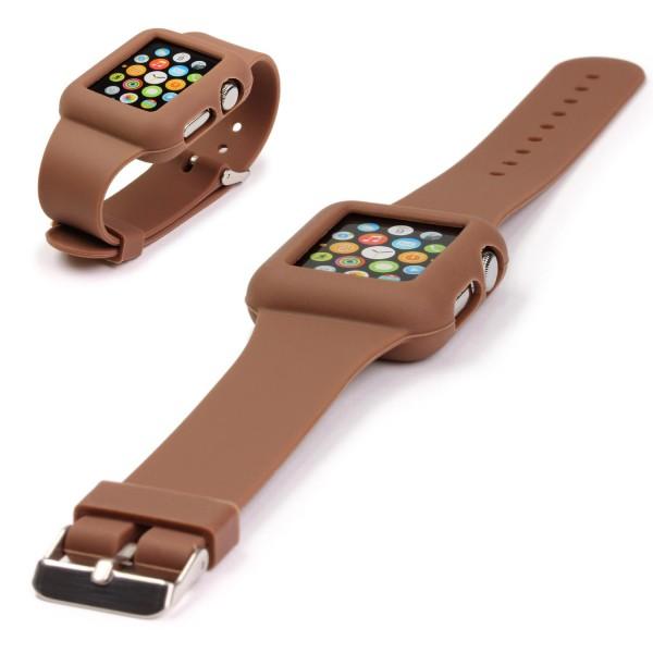 Original UrCover® Apple Watch Silikon Armband Schutz Hülle Wrist Band Uhrenarmband 38mm Schwarz