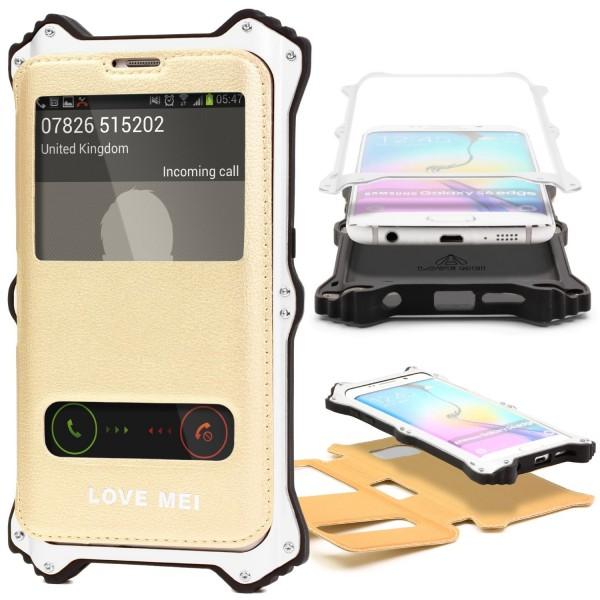Urcover® Samsung Galaxy S6 Edge Outdoor Case Schutz Hülle Flip Tasche Wallet