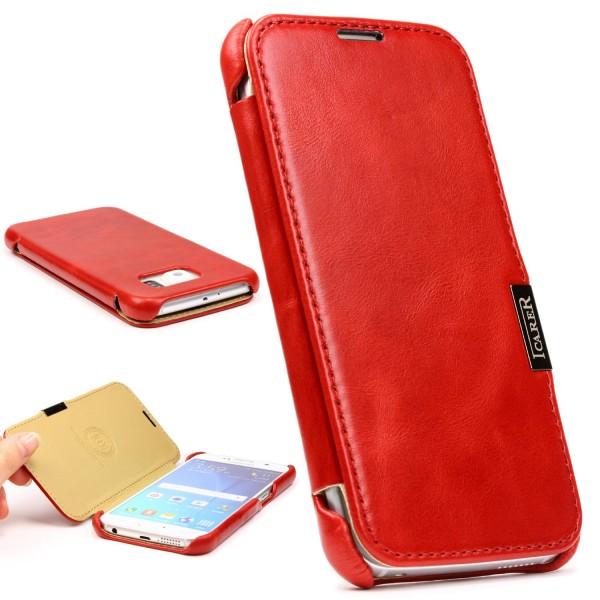 Urcover® Samsung Galaxy S6 Kartenfach Schutzhülle Case Cover Etui Tasche Wallet