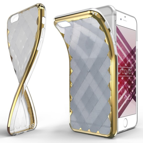 Urcover® Apple iPhone 6 / 6s Schutz Hülle Ultra Slim Cover Silikon Spiegelrand