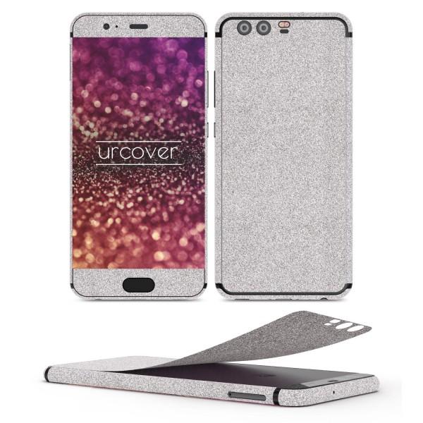 Huawei P10 Glitzer Folie Aufkleben Regenbogen Farbig Diamond Bling Design Optik