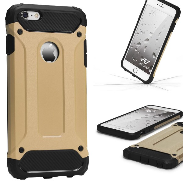 Apple iPhone 6 Plus / 6s Plus OUTDOOR Schutz Hülle TOP Cover Backcase Carbon Optik