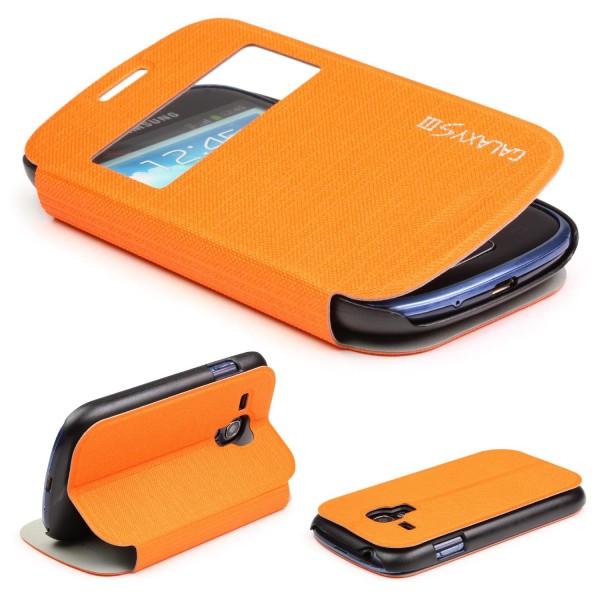 Samsung Galaxy S3 Mini Urcover® View Case Schutz Hülle Wallet Cover Etui Tasche