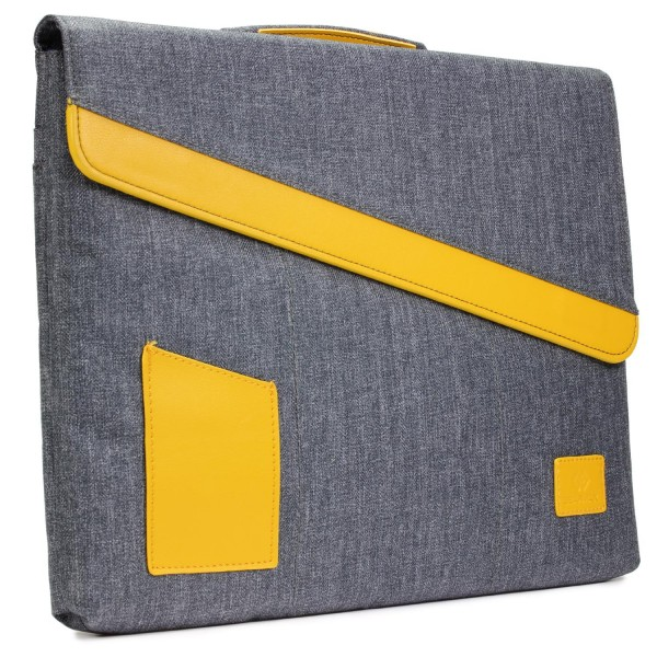 Urcover® Universal 15,4 Zoll Laptop Tasche Jeans Style Mac-Book Hülle Etui