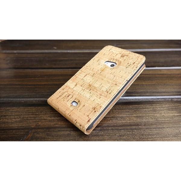 Urcover® Nokia Lumia 625 Kork Flip Schutz Hülle Case Cover Wallet Etui Schale