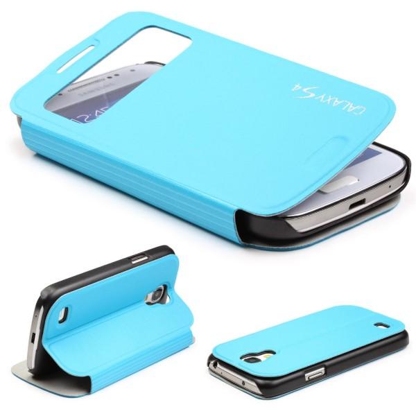 Urcover® Samsung Galaxy S4 Kunststoff Schutz Hülle Case Cover Wallet View Tasche