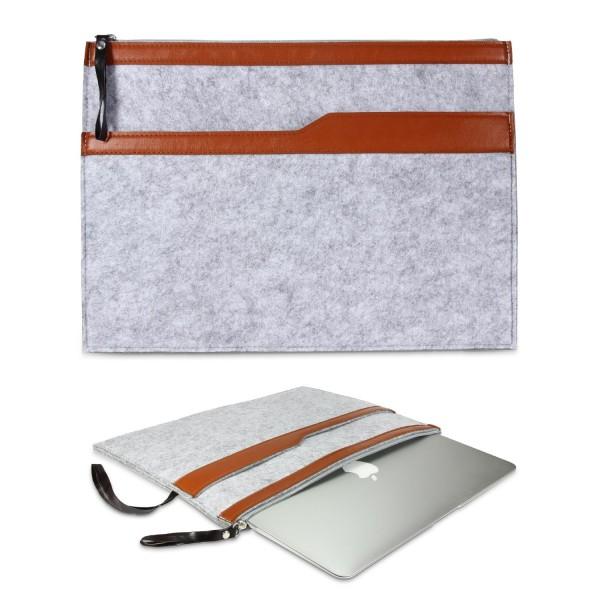 Urcover® Universal 13,3 Zoll Laptop Tasche Smart Case Cover Sleeve Grau/Beach