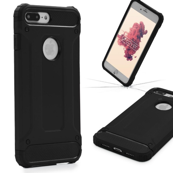 Apple iPhone 7 Plus OUTDOOR Schutz Hülle TOP Cover Backcase Carbon Optik Etui