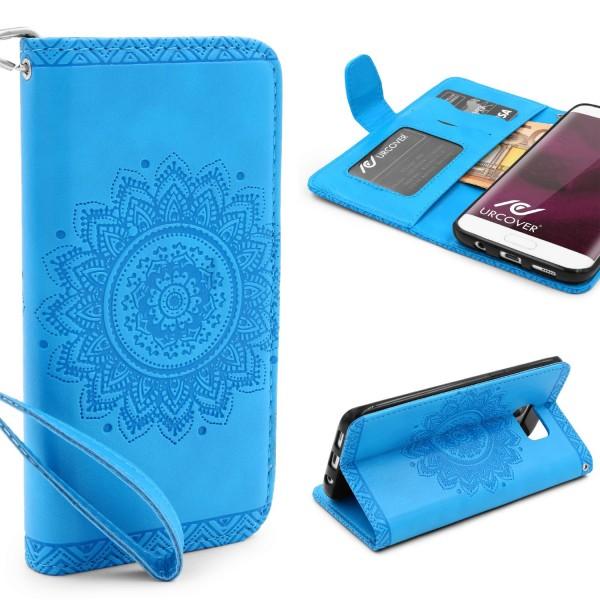 Samsung Galaxy S7 Edge Schutz Hülle Wallet Klapp Schale Lotus Pattern Case
