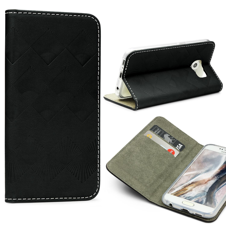 Urcover Samsung Galaxy S6 Wallet Schutz Hülle Flip Case Cover Etui Schale Flip Book Taschen Galaxy S6 Smartphone Samsung
