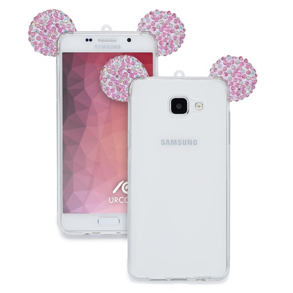 Samsung Galaxy A7 (2016) Maus Strass Ohren Bling Ear Schutz Hülle Glitzer Cover