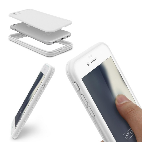 Urcover® Apple iPhone 7 Rundum Schutz Handy Hüle Touch Case Full Cover Etui