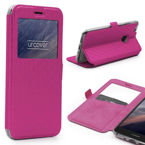 Huawei P10 Lite Sichtfenster Wallet Handy Schutz Hülle View Cover Flip Case Etui