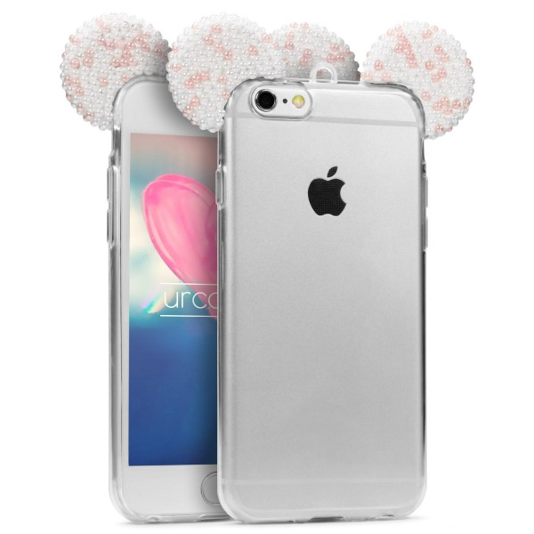 Urcover® Apple iPhone 6 / 6s Maus Ohren Hülle Cover Case Bling Edition Schutz