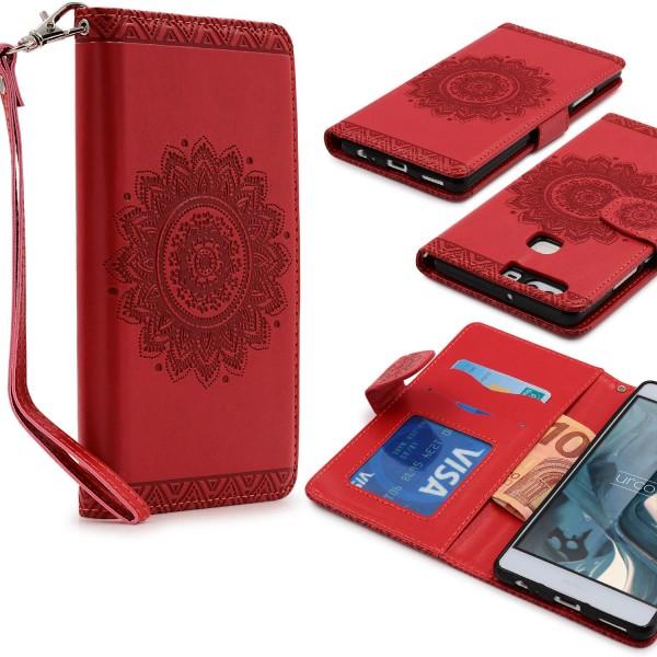 Huawei P9 Plus Wallet Klapp Schutz Hülle Kartenfach Stand Flip Case Cover Etui