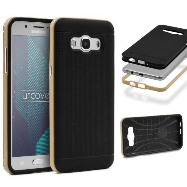 Samsung Galaxy J7 (2015) Schutz Hülle Carbon Style Karbon Optik TPU Case Cover