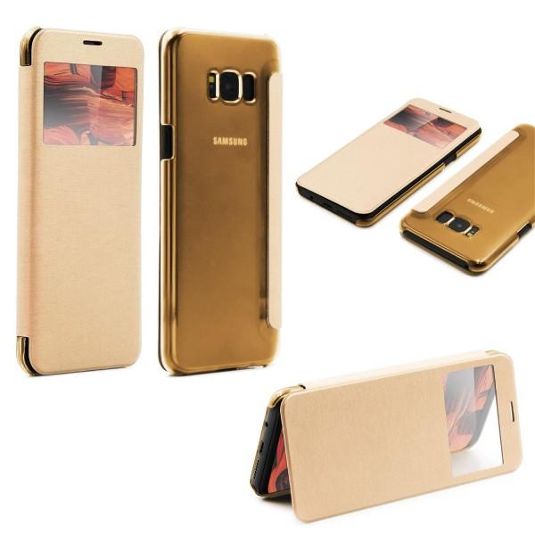 Samsung Galaxy S8 Plus View Case klar Schutz Hülle Cover Case Etui Handytasche