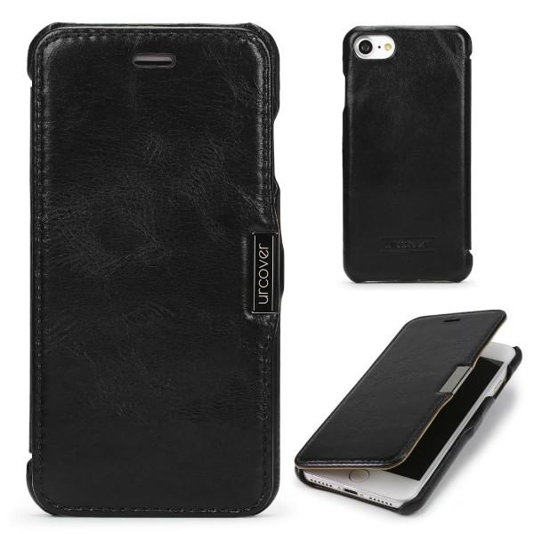 Apple iPhone 7 ECHT LEDER Schutz Hülle Lederhülle Klapp Schale Wallet Case Cover