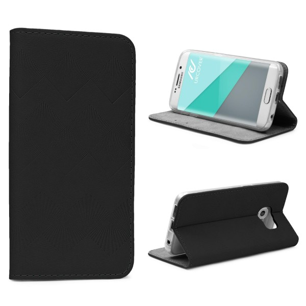 Urcover® Samsung Galaxy S6 Edge Wallet Schutz Hülle Flip Case Cover Etui Schale