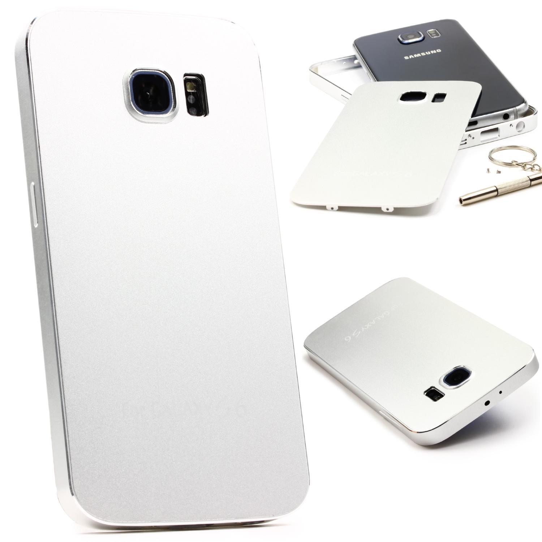 Urcover Samsung Galaxy S6 Aluminium Schutz Hülle Back Case Cover Tasche Etui Backcase Galaxy S6 Smartphone Samsung