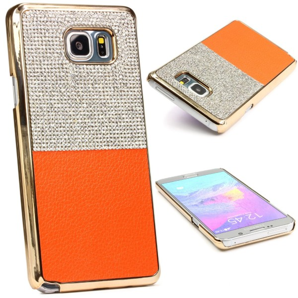 Urcover® Samsung Galaxy Note 5 Schutz Hülle Glitzer Bling Back Case Cover Strass