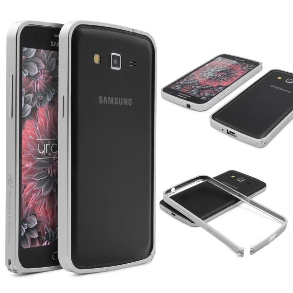 Urcover® Samsung Galaxy Grand Duos 2 Alu Bumper Schutz Hülle Case Cover Tasche