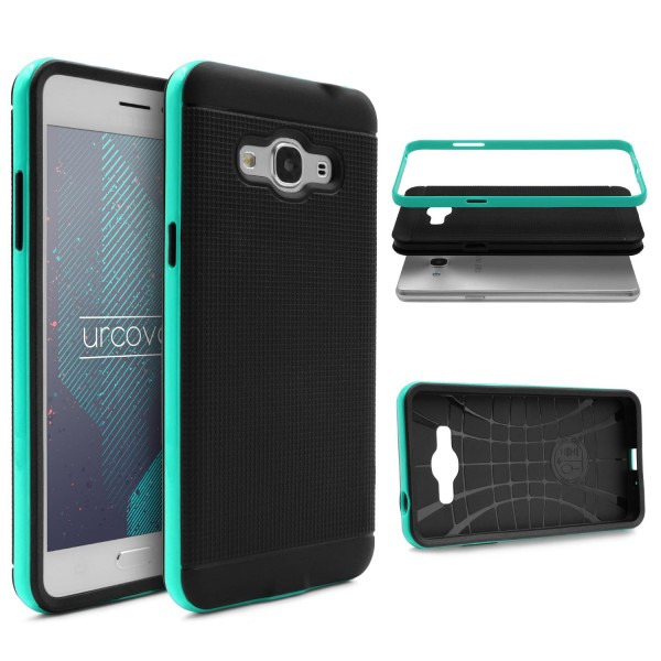 Samsung Galaxy J3 Pro Schutz Hülle Carbon Style Karbon Optik TPU Case Cover Etui