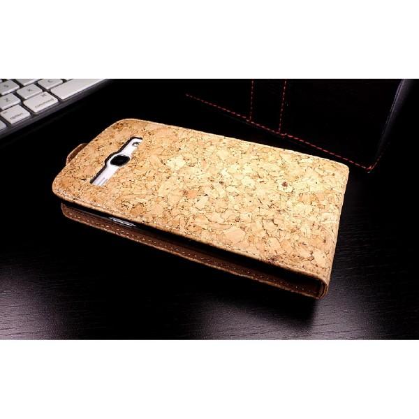 Urcover Samsung Galaxy G 3500 core plus Kork Schutz Hülle Flip Wallet Case Cover