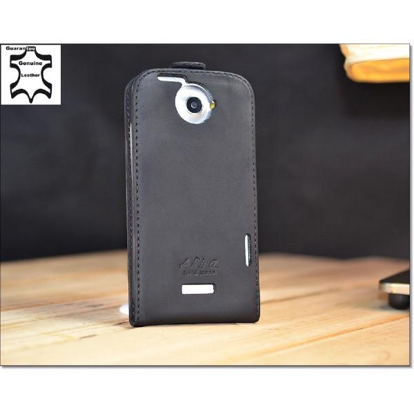 Akira Handmade Echt Leder Handy Schutz Hülle für HTC One X Case Cover Tasche