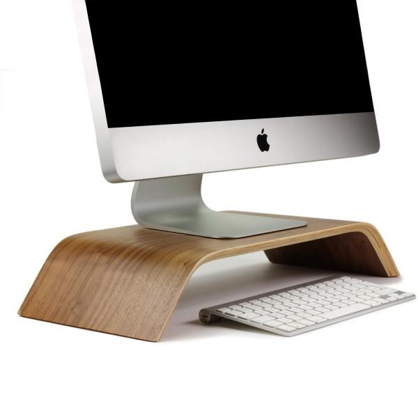 Urcover® Universal Monitor-Ständer Echt Holz Tisch Bildschirm iMac Halter