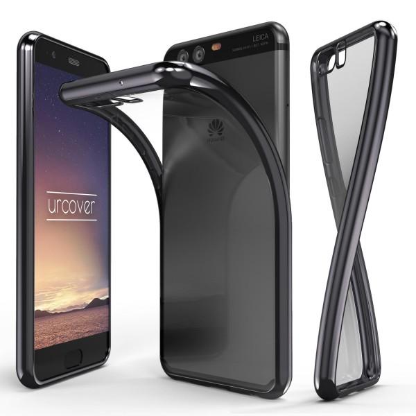 Huawei P10 Hülle Spiegelrand klar Slim Cover Tasche Back Case Etui Schale