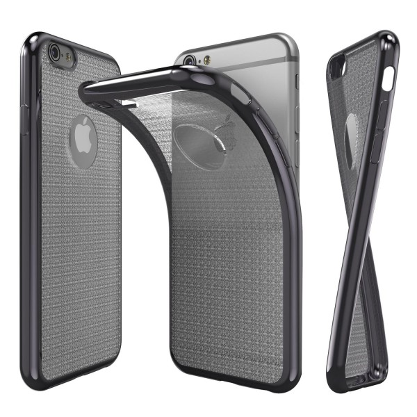 Urcover® Apple iPhone 6 / 6s Schutz Hülle [Spiegelrand] Back Cover