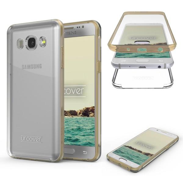 Urcover Samsung Galaxy J1 (2016) Touch Case 2.0 Hard Edition berühmt durch Galileo Rundum 360° Crystal Clear Schutzhülle