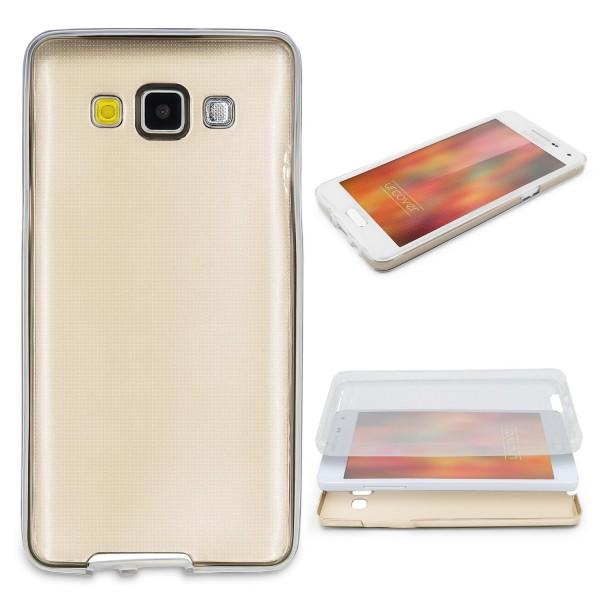 Samsung Galaxy A5 (2015) 360 GRAD RUNDUM SCHUTZ Metalloptik TPU Hülle Cover Case